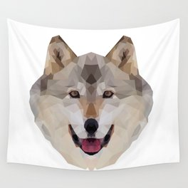Geometrical Wolf Wall Tapestry