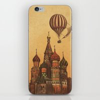 moscow iPhone & iPod Skins featuring Moving to Moscow by Terry Fan