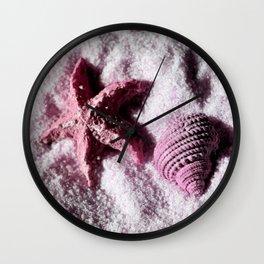 Ocean Life in Pink Wall Clock