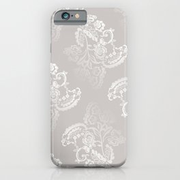 Light gray lace work pattern iPhone Case