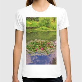 The Water Lily Pond inspired by impressionist  T-shirt
