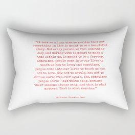 Typewriter Style Quote ((Bianca Sparacino)) Rectangular Pillow