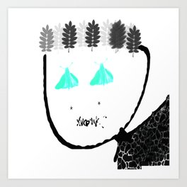 Winter-Spring Face Art Print