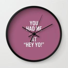 Hey yo! Wall Clock