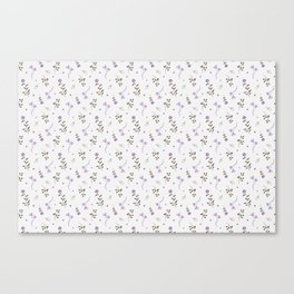 Lavender and Brown Spring Floral Print Canvas Print