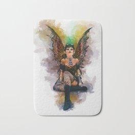 Gothic Steampunk Angel Bath Mat
