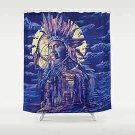 native american portrait 2 Shower Curtain