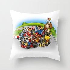 Super Smash Kart Throw Pillow
