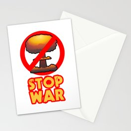 STOP WAR No Bomb Sign Stationery Cards
