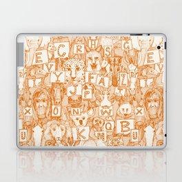 animal ABC orange ivory Laptop & iPad Skin