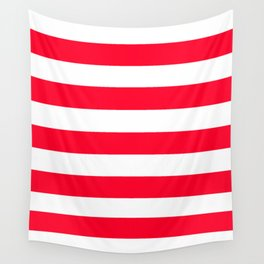 Ruddy - solid color - white stripes pattern Wall Tapestry