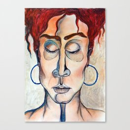 Surrender Portrait of a Woman Gypsy Pastel Orange Canvas Print