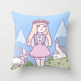 LITTLE LAMM Throw Pillow