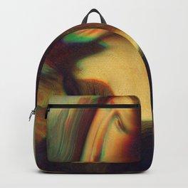 mona lisa gioconda marble Backpack
