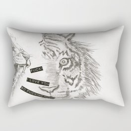 Fuck! I love you so fucking much! Rectangular Pillow