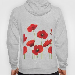 Poppies Field white background Hoody