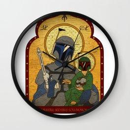 Patron Saint of Bounty Hunters... Wall Clock