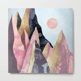 Mauve Peaks Metal Print