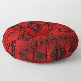 The Lodge (Red) Floor Pillow