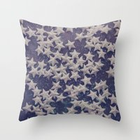starry night Throw Pillows featuring Starry Starry Night (1) by Karin Elizabeth