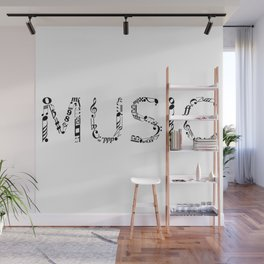 Music typo Wall Mural
