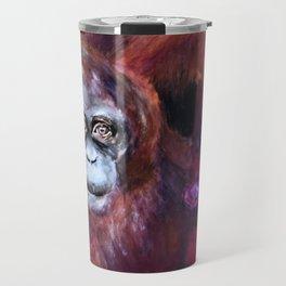 Patient Orangutan Mum and Her Naughty Child Travel Mug