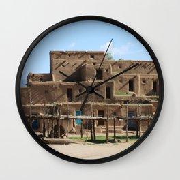 A Taos Pueblo Building Wall Clock
