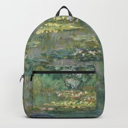 Water Lily Pond Claude Monet Backpack