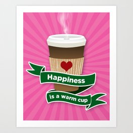 It's the little things 1 - coffee Art Print