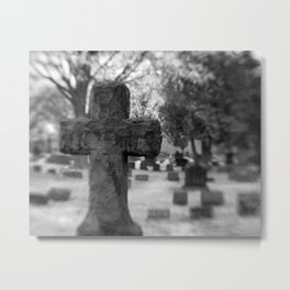 Cemetery Cross Metal Print