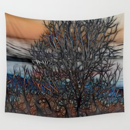 Abstract Sunset Tree Wall Tapestry