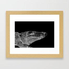 Croc Stamp Framed Art Print