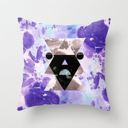 Faces of the universe Throw Pillow