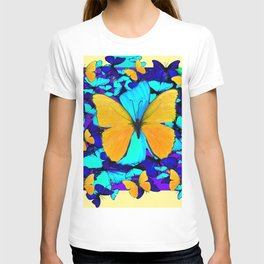 Blue & Yellow Butterfly  Potpourri T-shirt