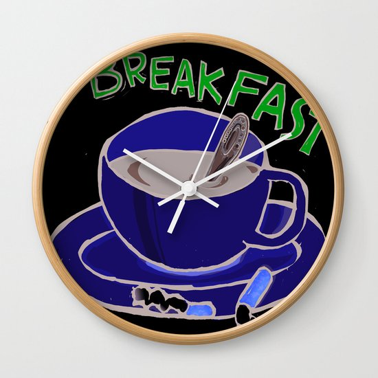 BREAKFAST Wall Clock