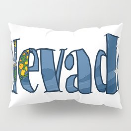 Nevada Font with Nevadan Flag Pillow Sham