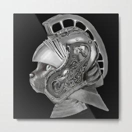 Cat Gladiator Metal Print