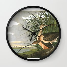 Long billed curlew, Birds of America, Audubon Plate 231 Wall Clock