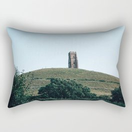 glastonbury tor Rectangular Pillow