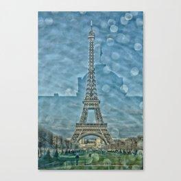 Tour Eiffel reflet Canvas Print
