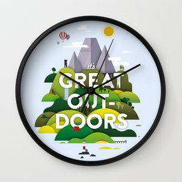 It's Great Outdoors Wall Clock