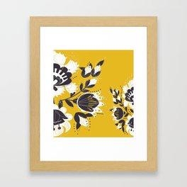 Floral honeyy Framed Art Print