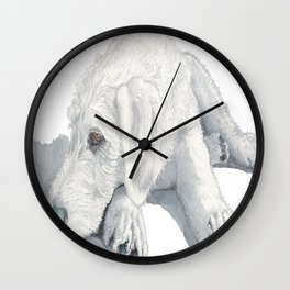 Labradoodle Pup Ginger Wall Clock