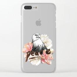 Peace Wreath Clear iPhone Case