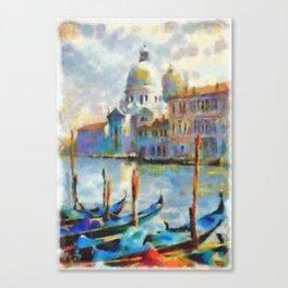 Venice - watercolors (wet on wet) Canvas Print