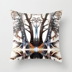 Collection of Trees: mirrored version Throw Pillow