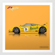 McLaren F1 GTR #06R - 1995 Le Mans 3rd Place Finisher Art Print