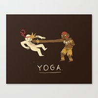 yoga Canvas Prints featuring yoga. by Louis Roskosch