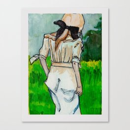 Girl in the Grass II Canvas Print