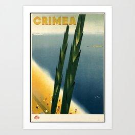Crimea - Vintage Poster Art Print